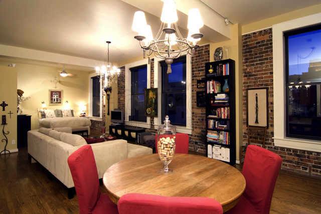 living room Houston loft for sale