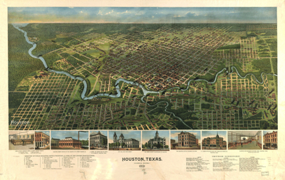 Houston map from 1891