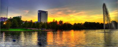 Sunset Over Hermann Park
