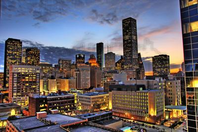 Houston At Daybreak