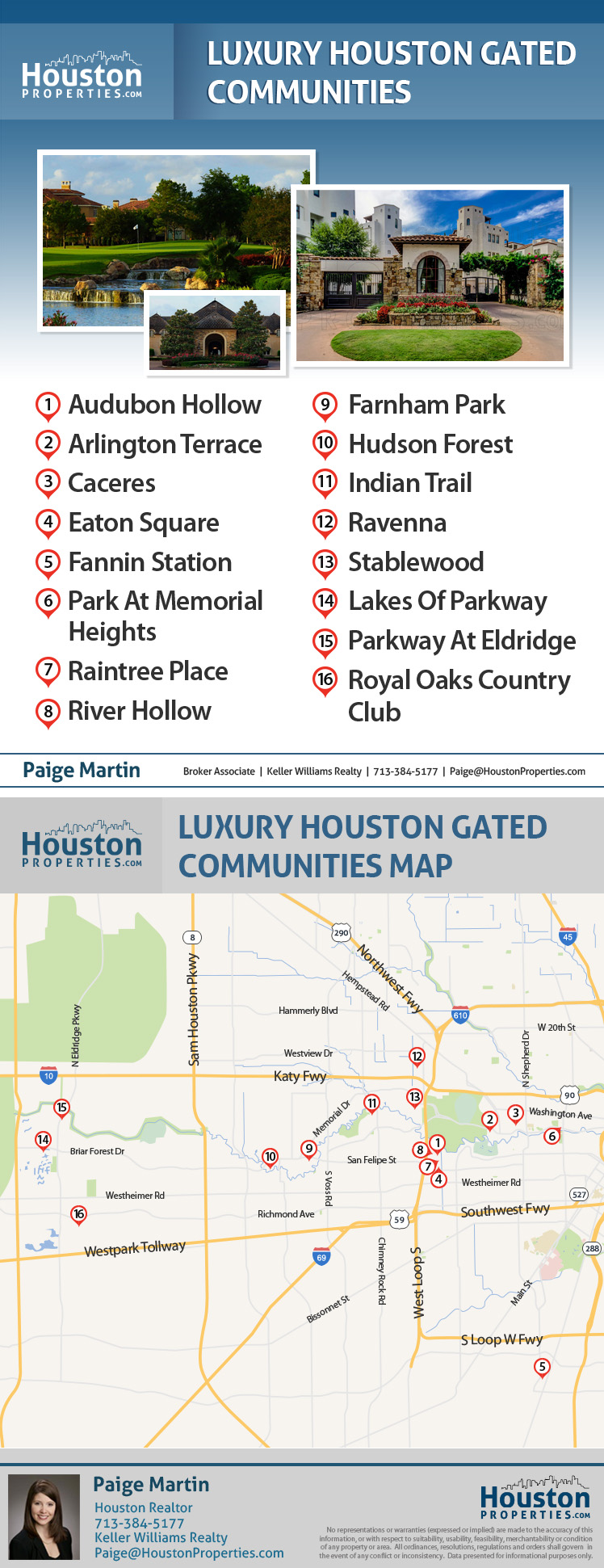 Map Of Best Gated Communities In Houston