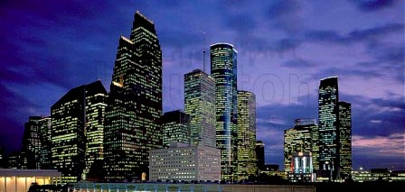 houston condos at night