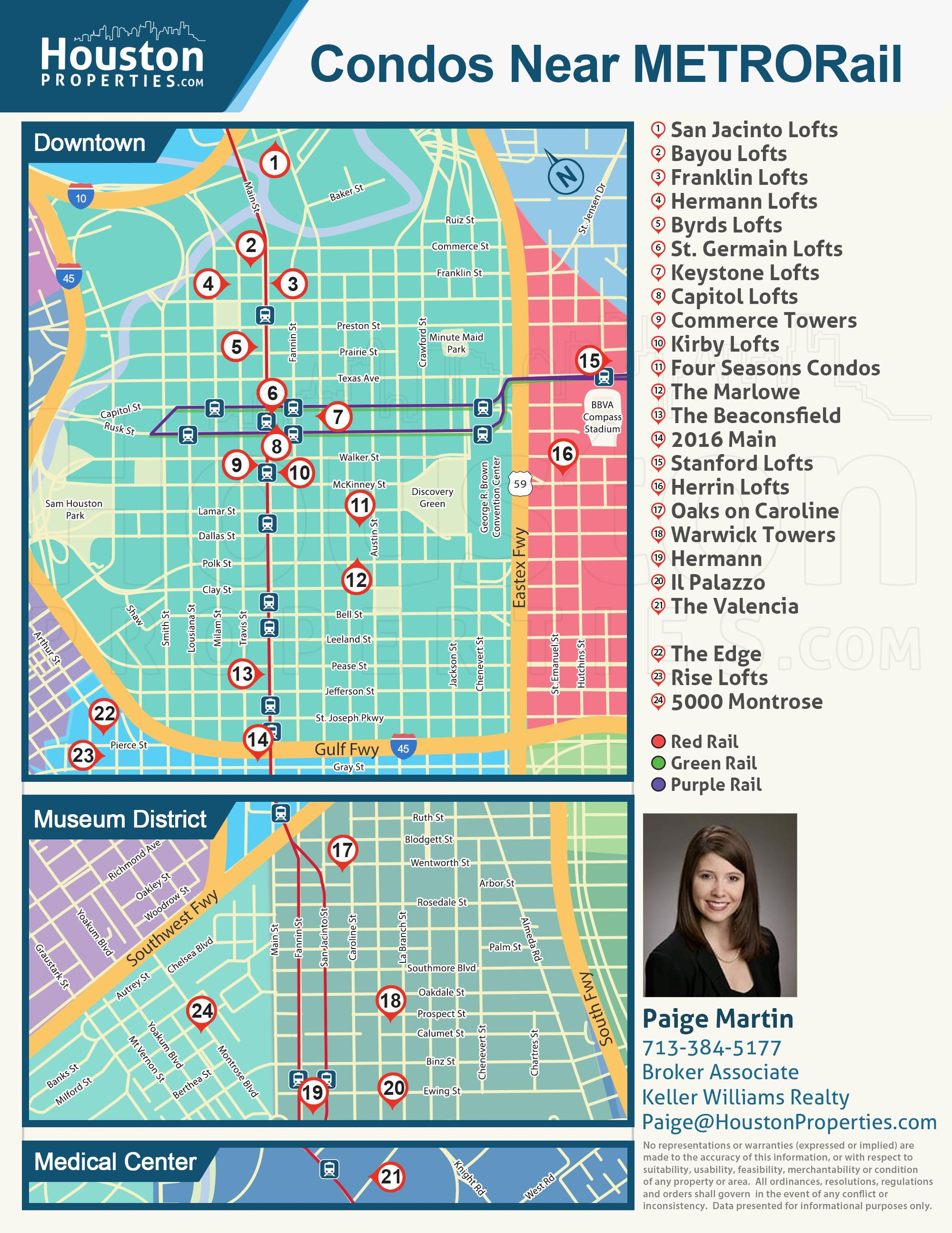 Map: Houston Condos Near The METRORail