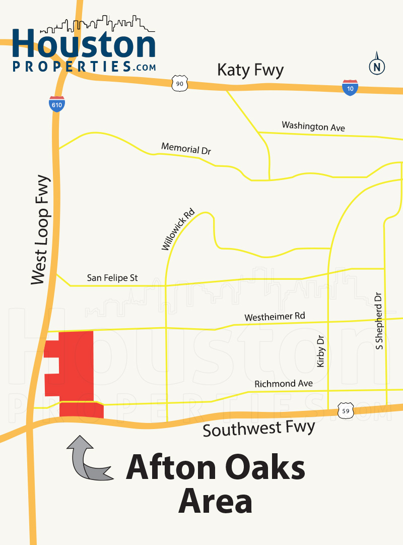 Afton Oaks Houston Map