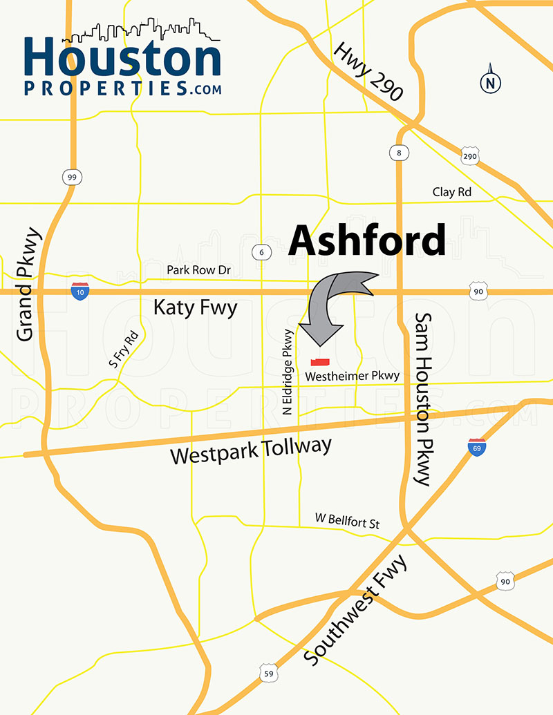 Ashford Forest Houston map