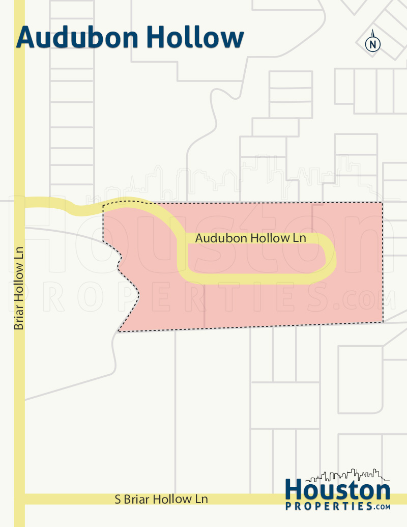 Audubon Hollow Houston Map