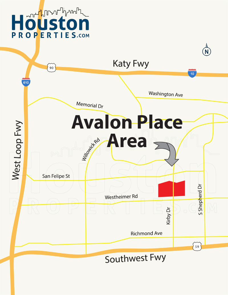 Avalon Place Houston Map