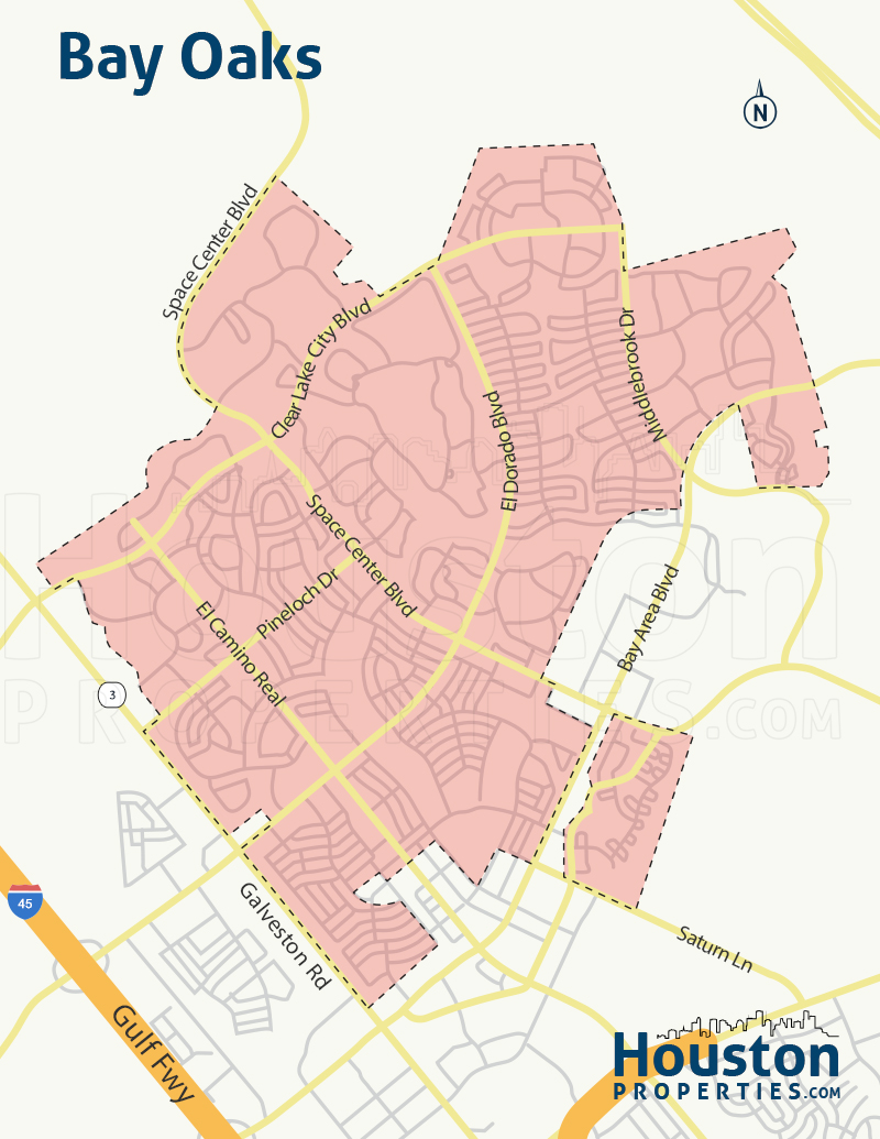 Bay Oaks neighborhood map