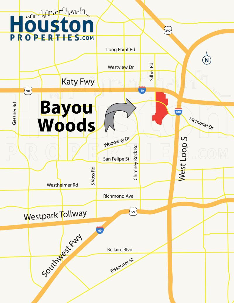 Bayous In Houston Map.Bayou Woods Houston Tx Homes Neighborhood Guide