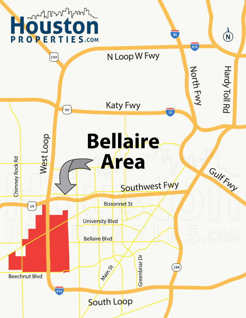 Bellaire Houston Neighborhood Map