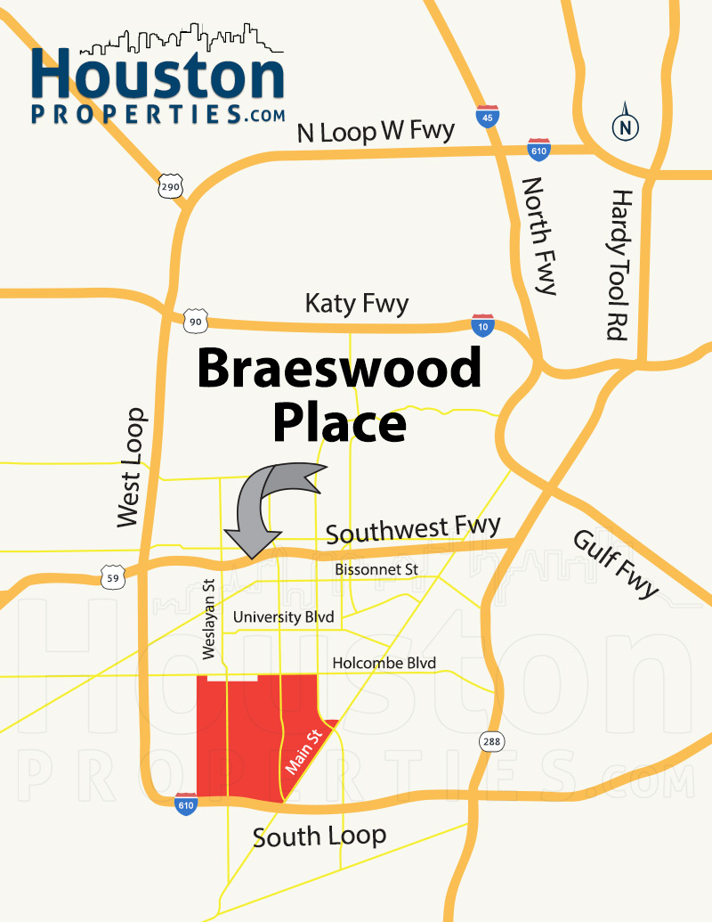 Braeswood Place Location