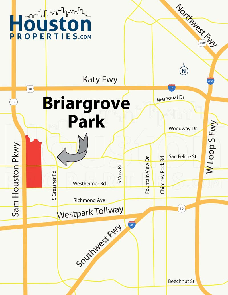 Briargrove Park houston map