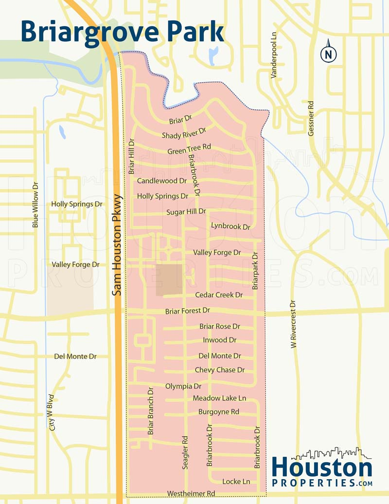 Briargrove Park Houston Neighborhood Map