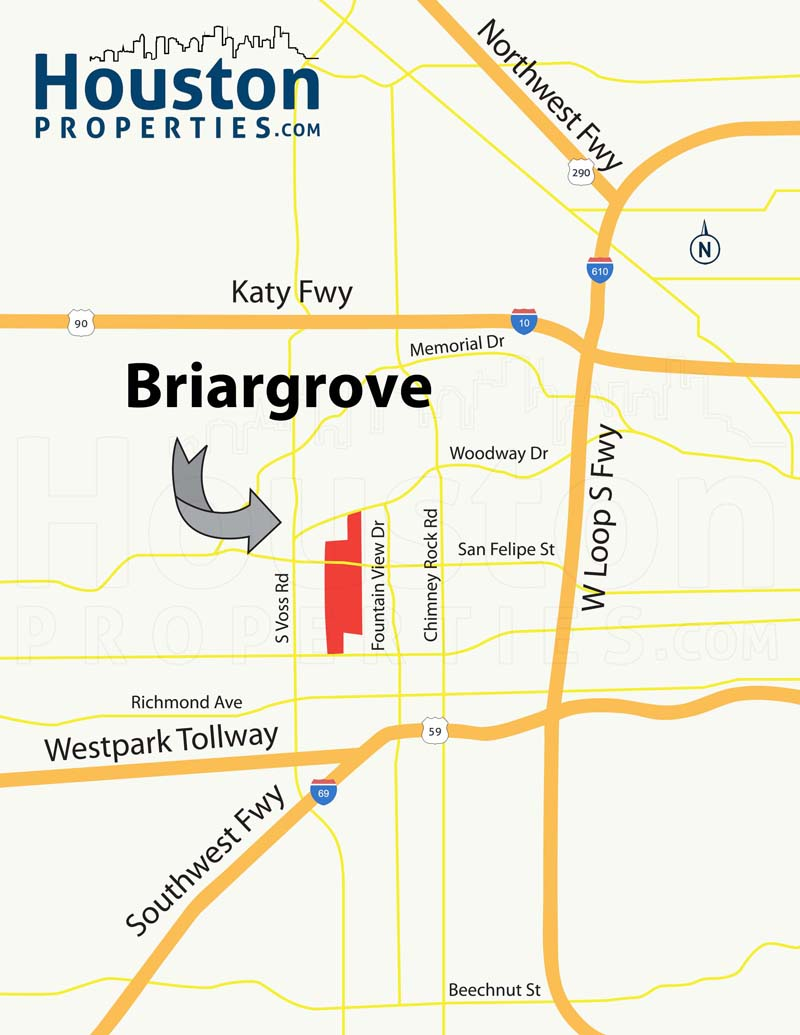 Briargrove houston map