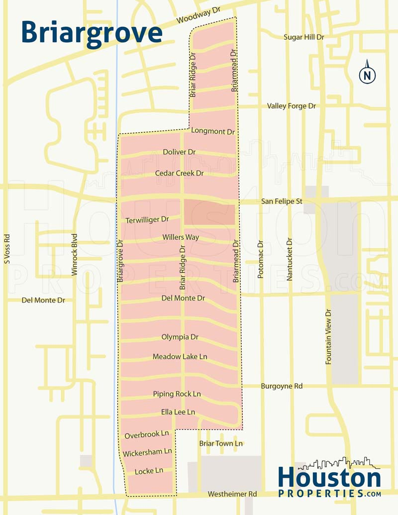 Briargrove Houston Neighborhood Map