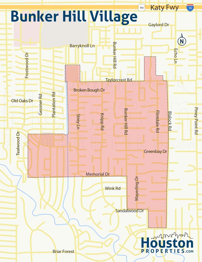 Bunker Hill neighborhood map