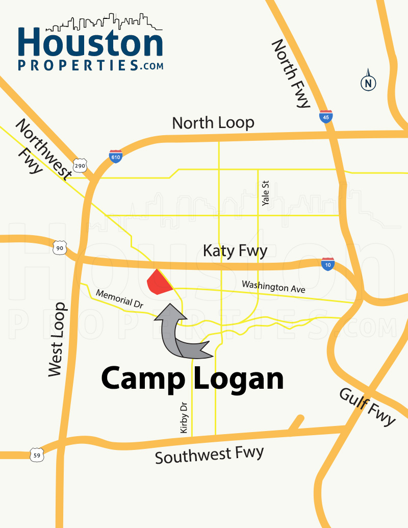 Camp Logan Houston Map