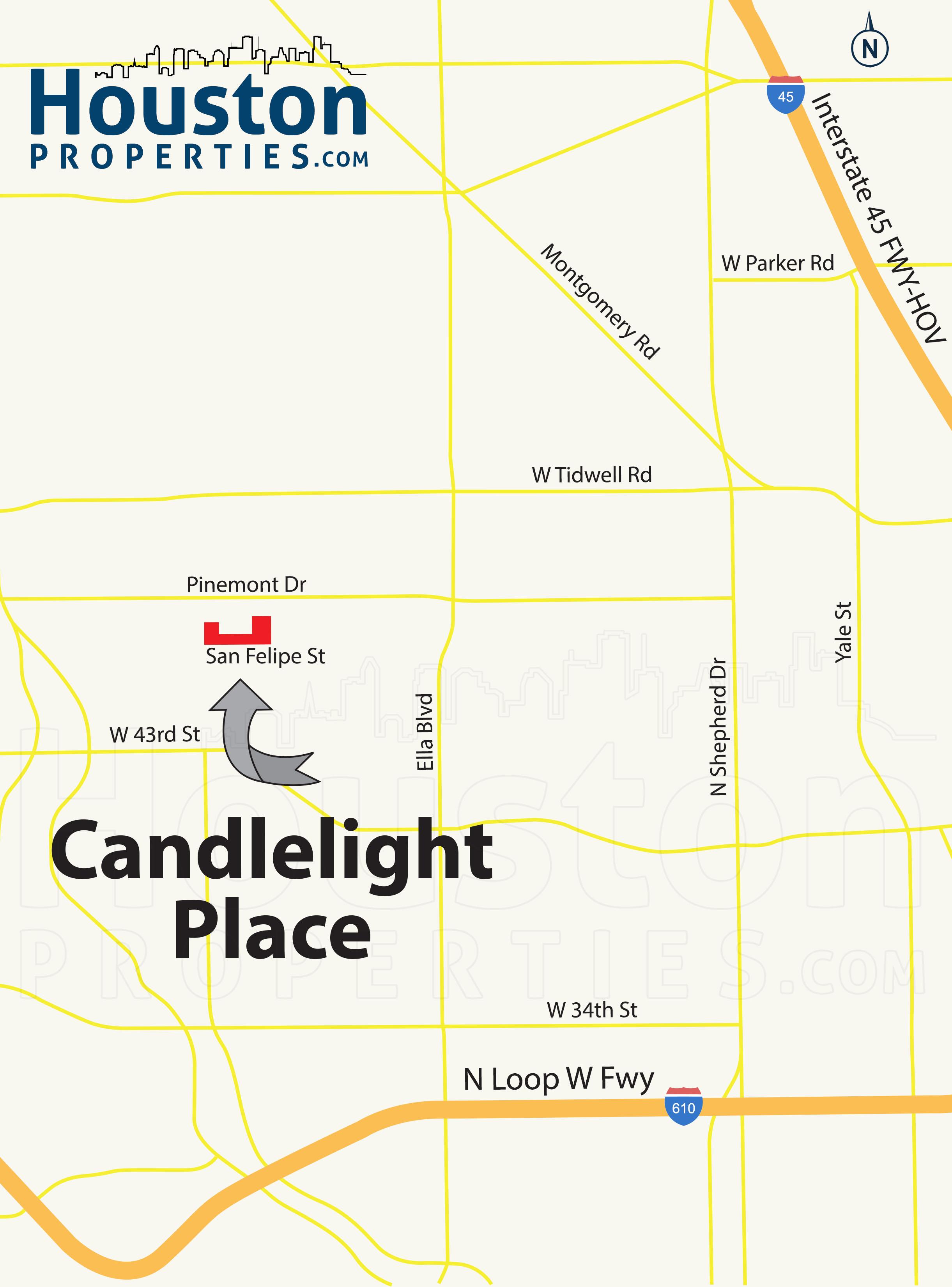 Candlelight Place Houston map