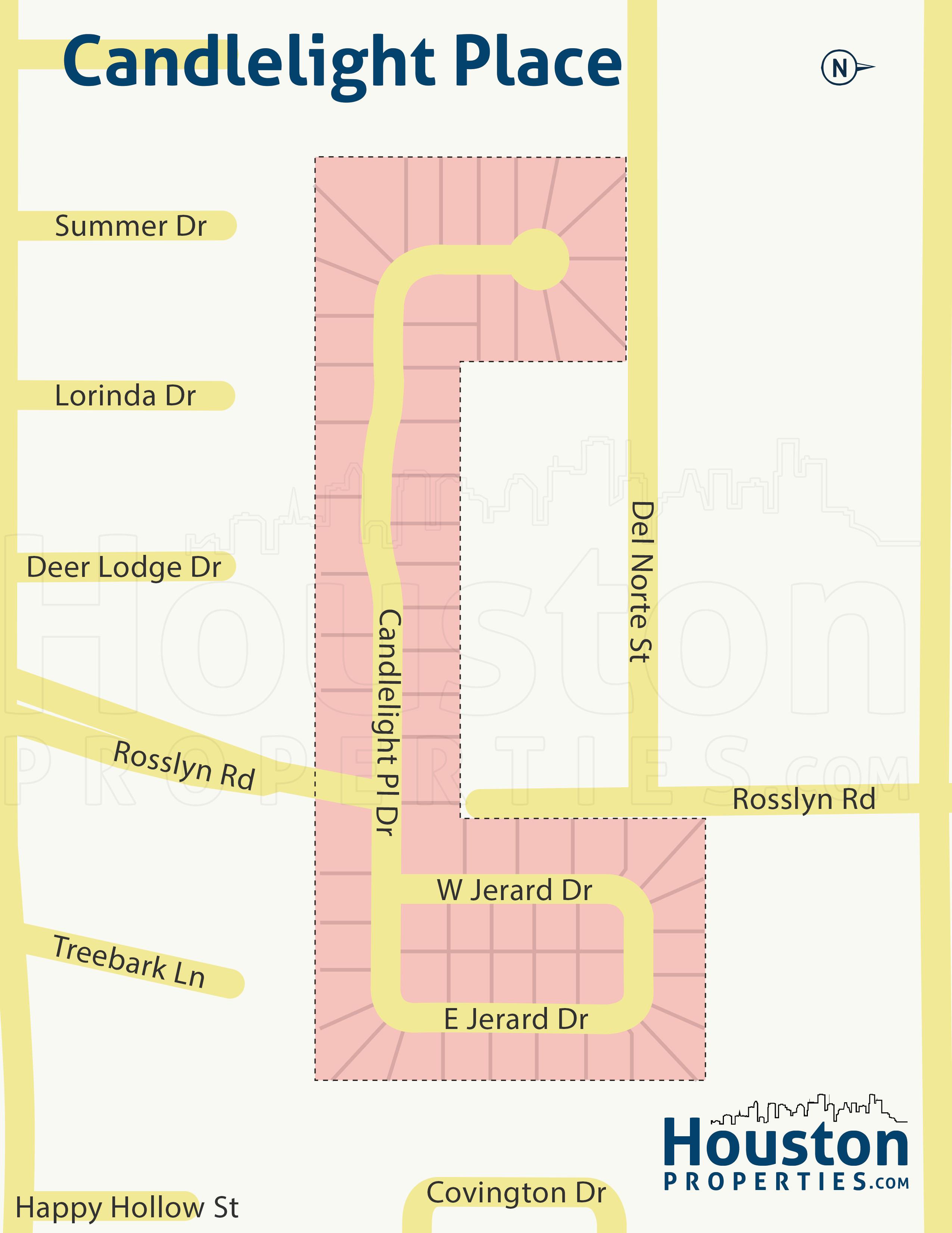 Candlelight Place neighborhood map