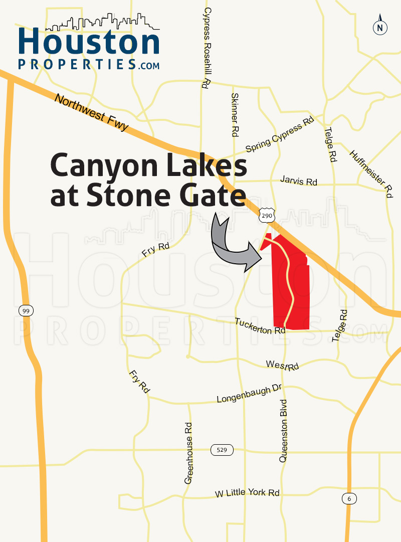 Canyon Lakes at Stonegate houston map