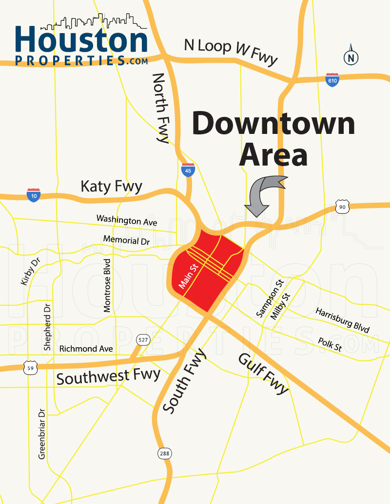 downtown houston map