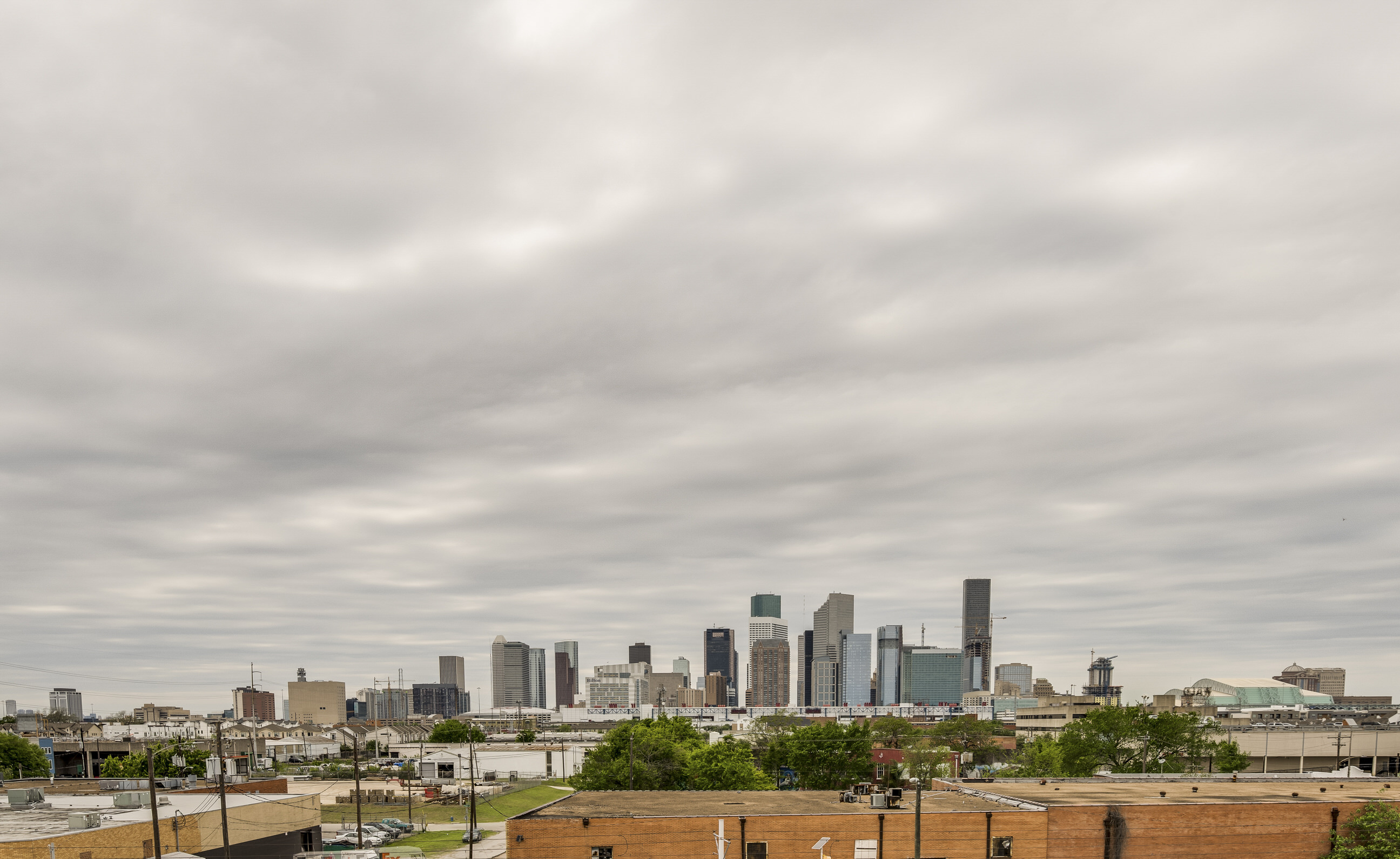 View of Downtown Houston in EaDo