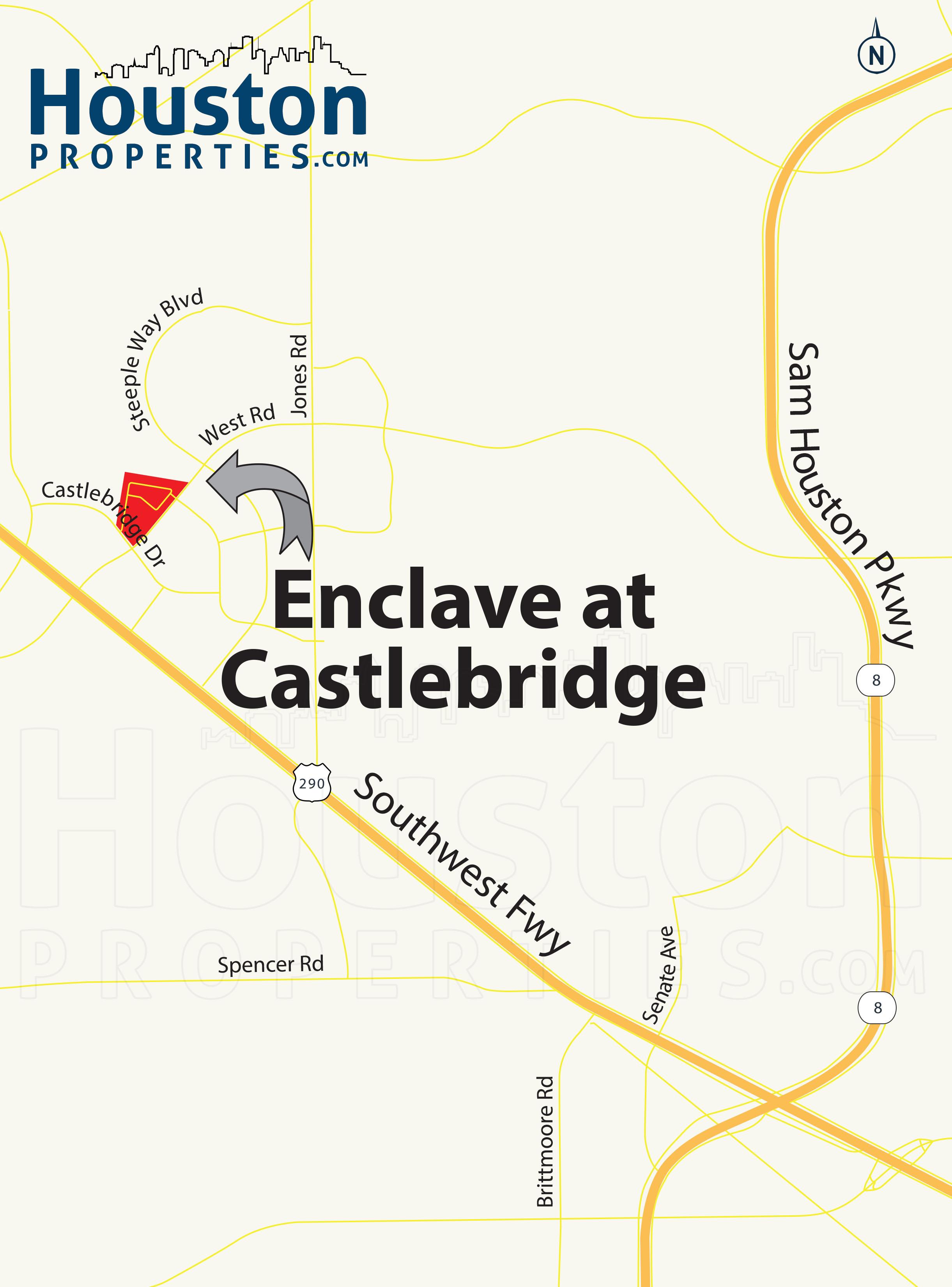 Enclave at Castlebridge Houston map