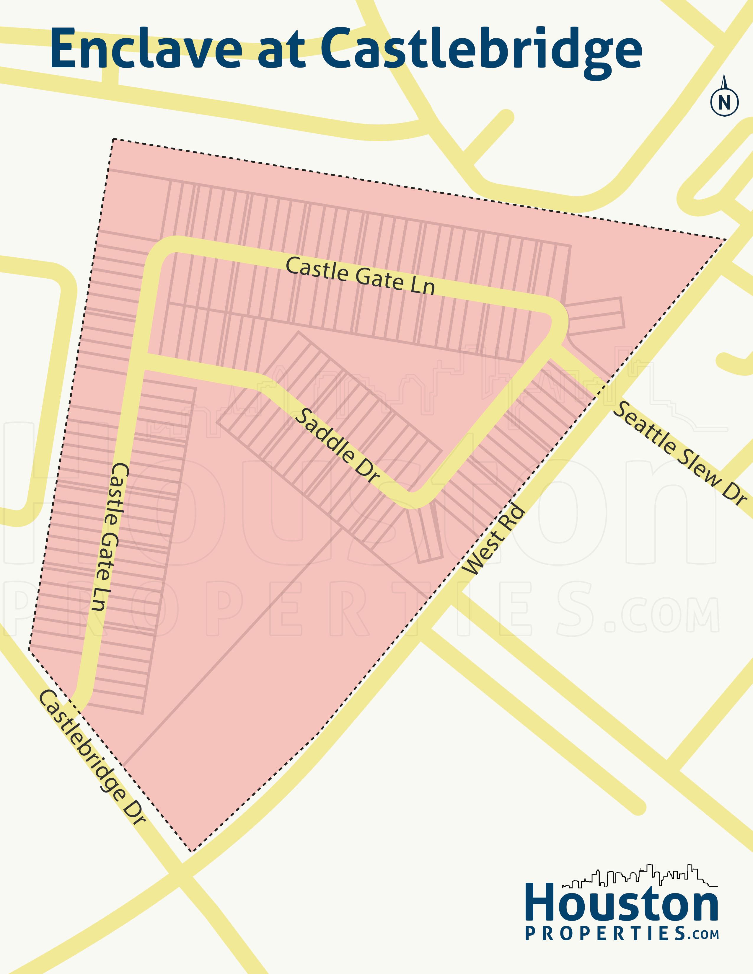 Enclave at Castlebridge neighborhood map
