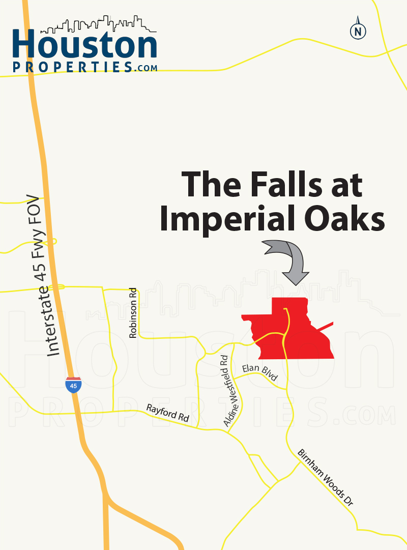 Falls at Imperial Oaks houston map