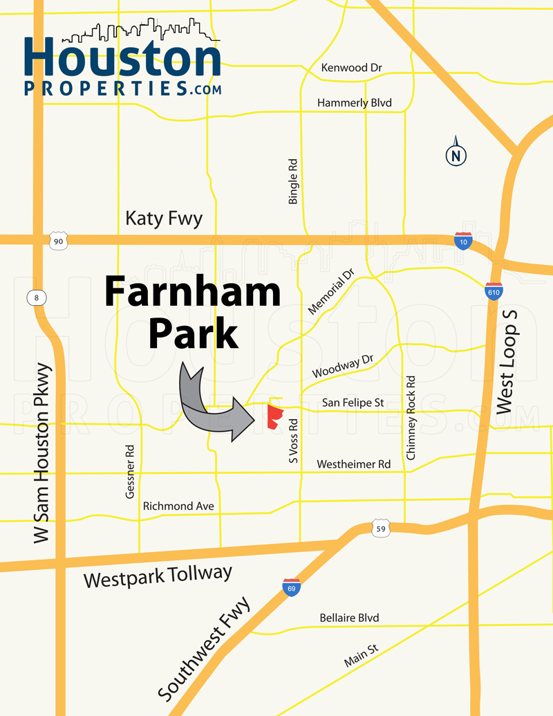 Farnham Park Houston Map