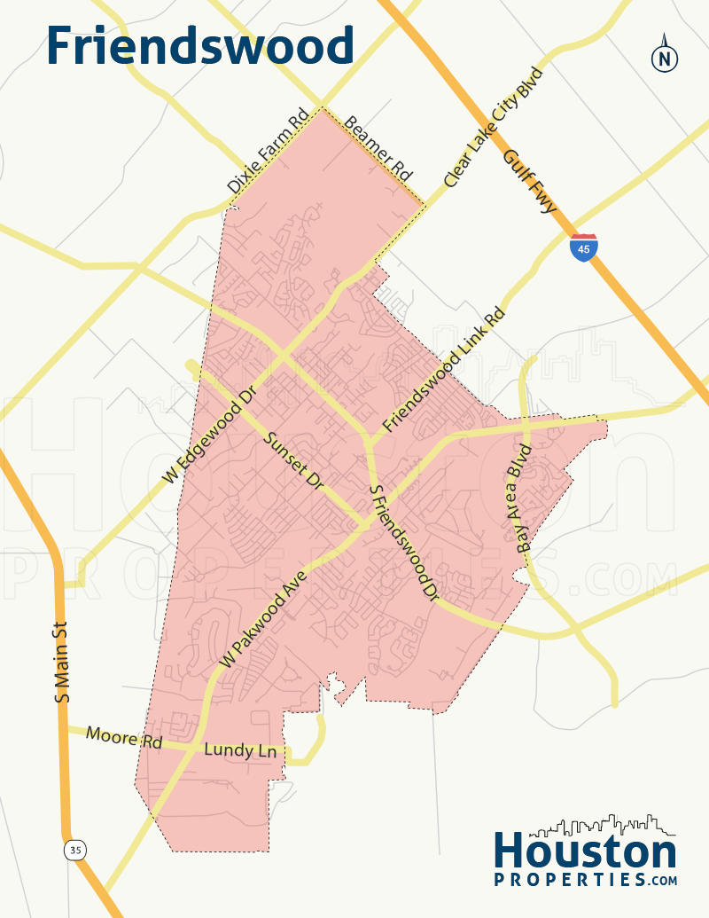Friendswood neighborhood map