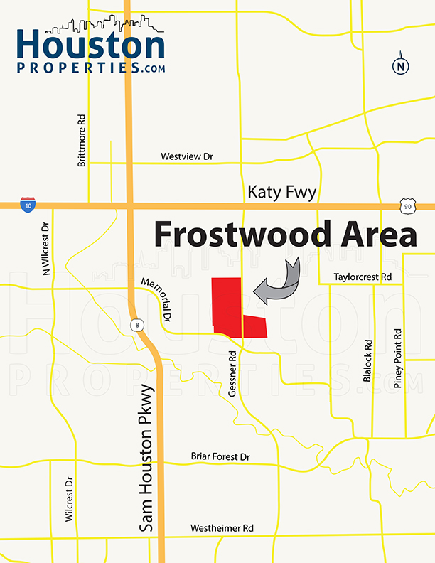 Frostwood Houston Neighborhood Map