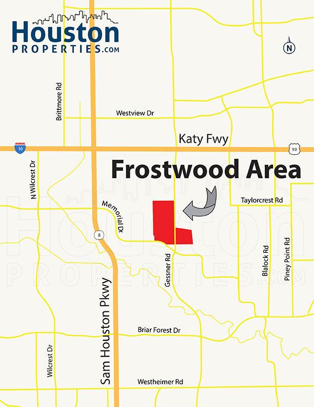 Frostwood Houston Neighborhood Map