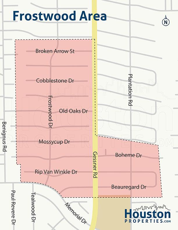 Frostwood Neighborhood Map