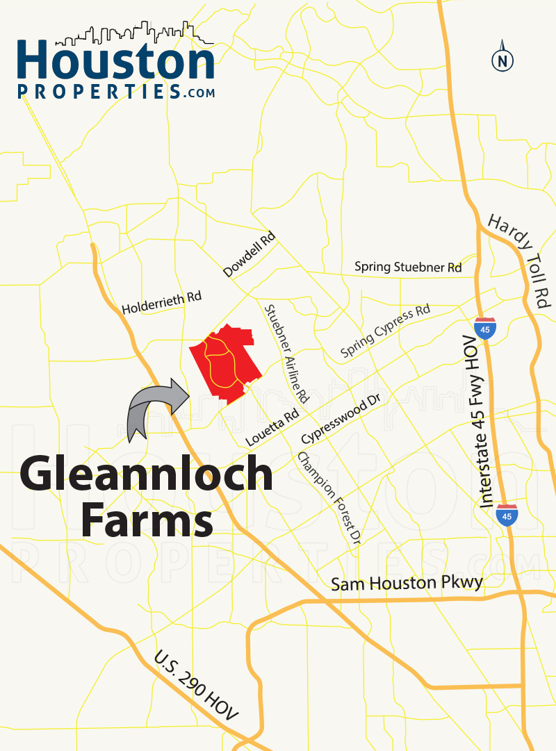 Gleannloch Farms houston map