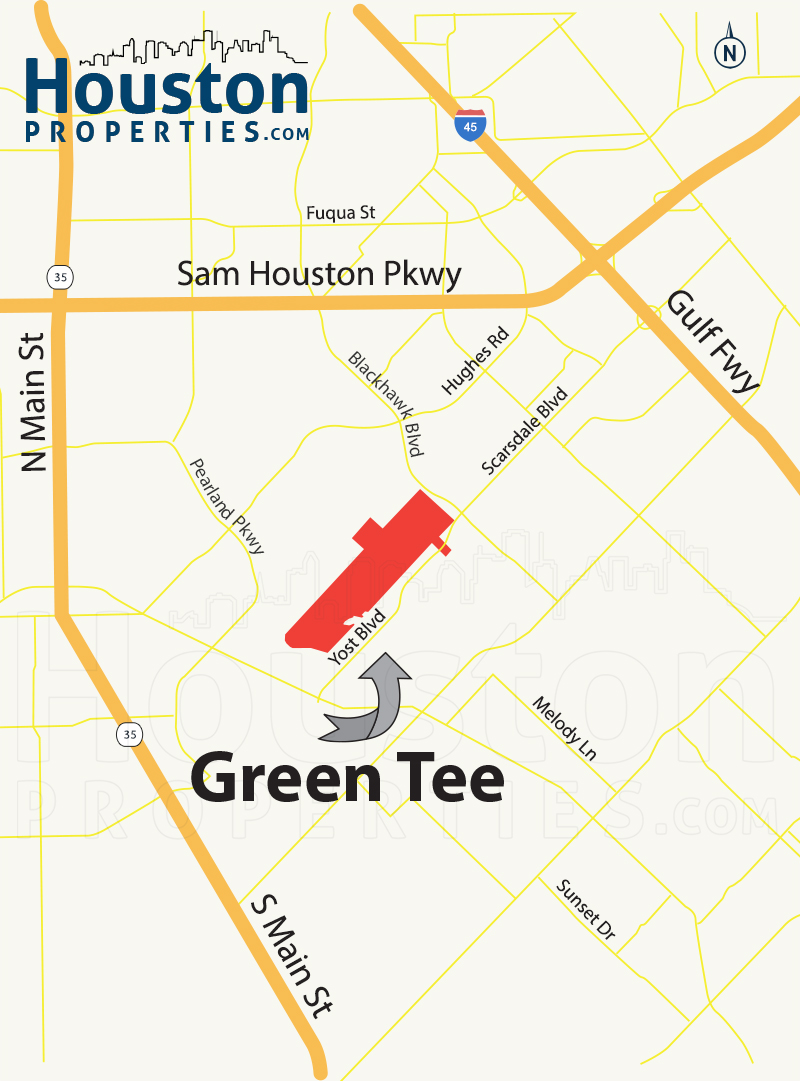 Green Tee Terrace houston map