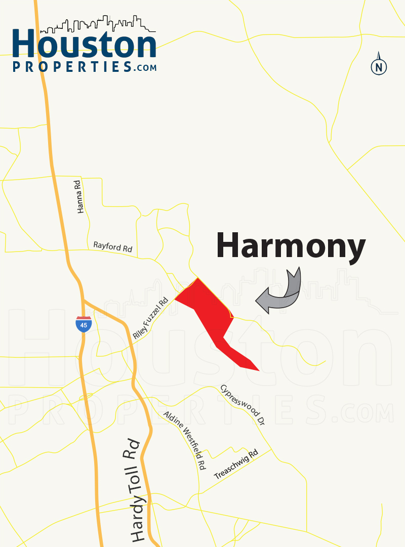 Harmony houston map