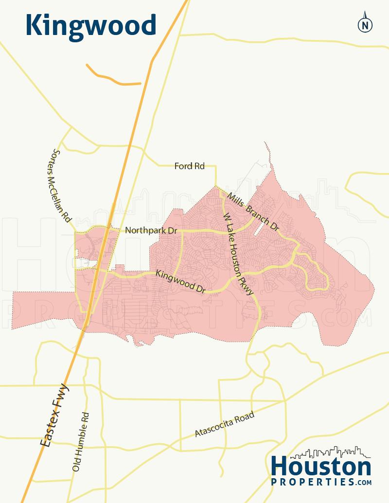 Kingwood Houston neighborhood map