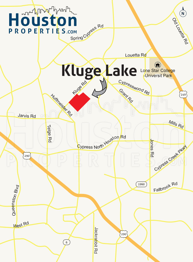 Kluge Lake houston map