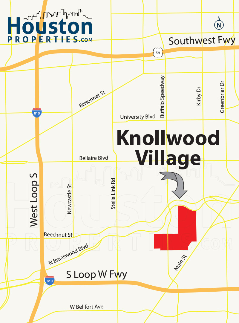 Knollwood Village Houston map