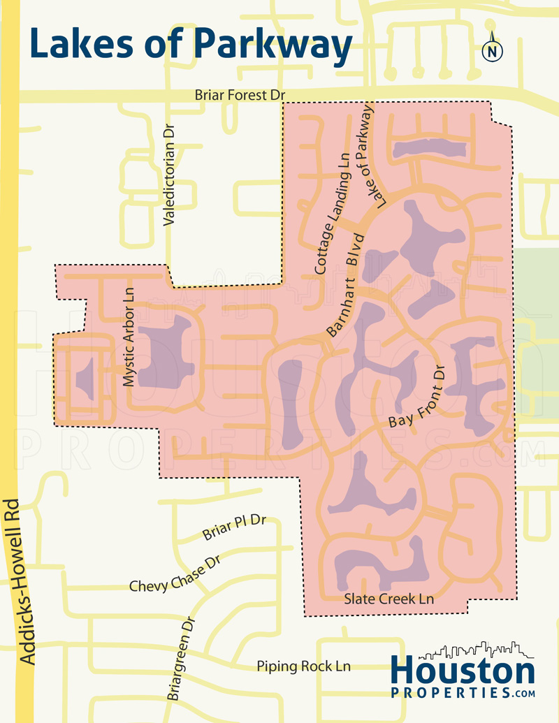 Lakes of Parkway Houston Map