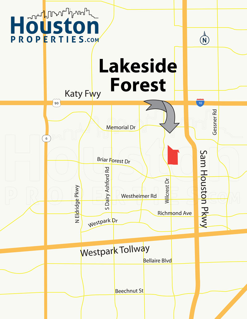 Lakeside Forest houston map