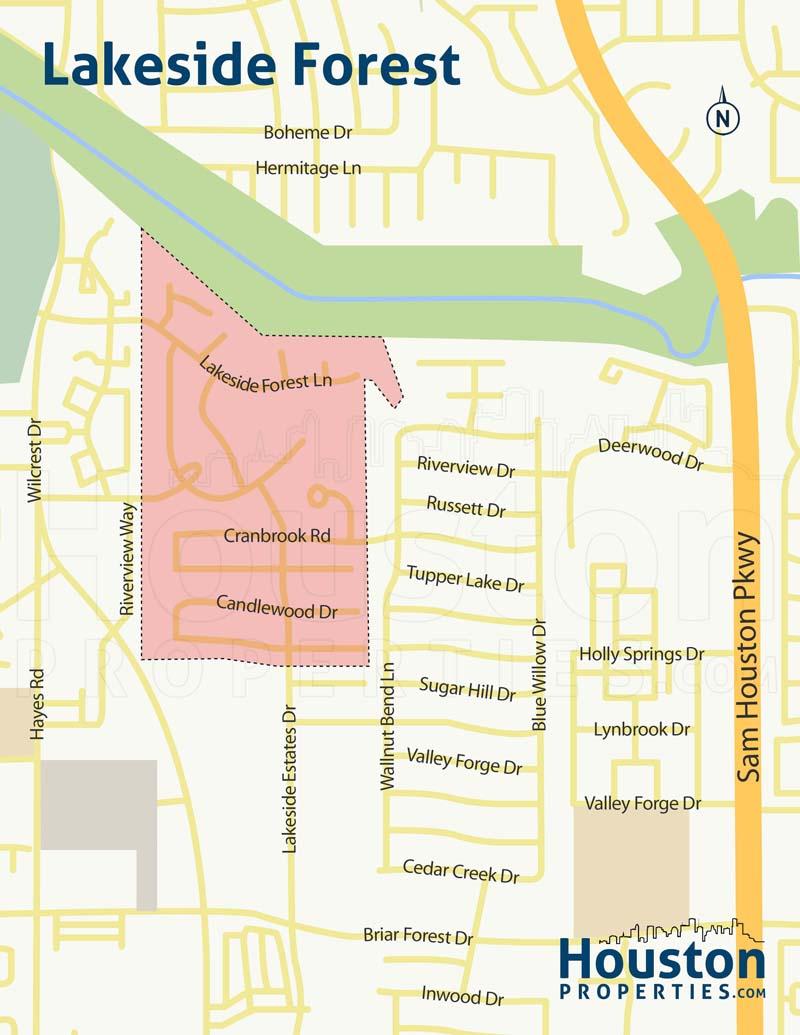 Lakeside Forest neighborhood map