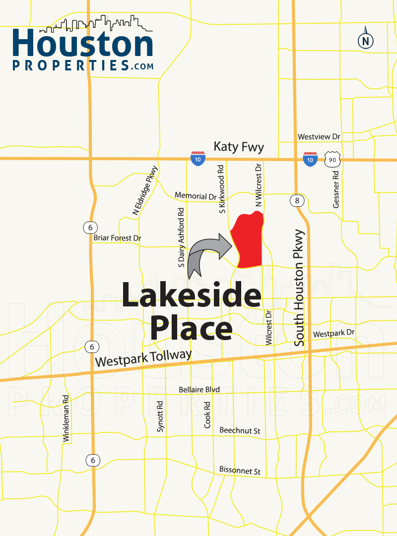 Lakeside Place houston map