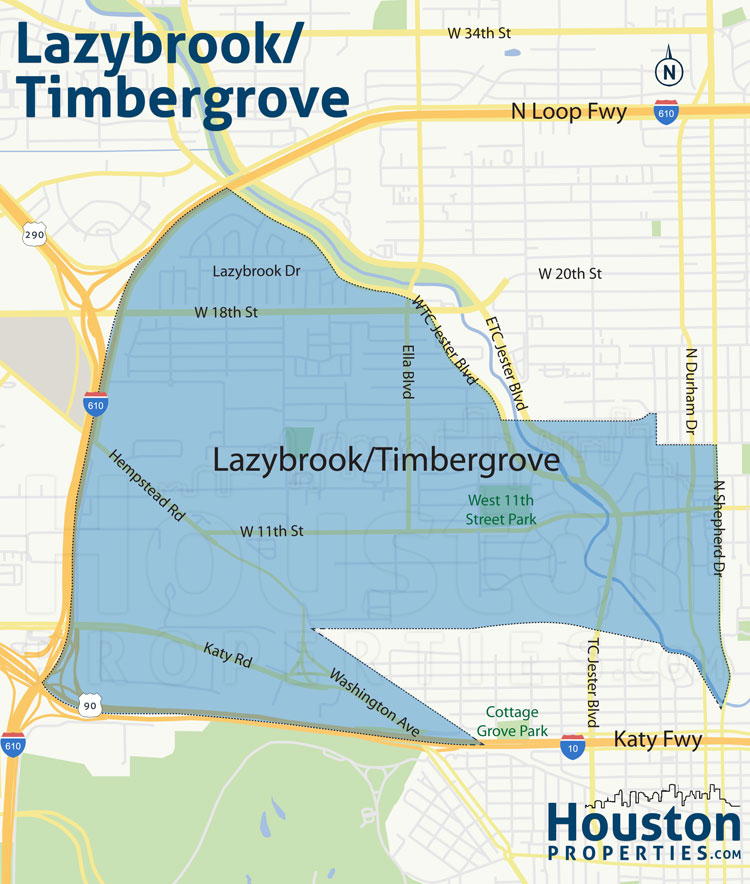 map of lazybrook homes in houston