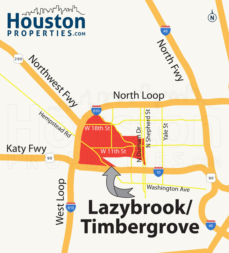 lazybrook houston map