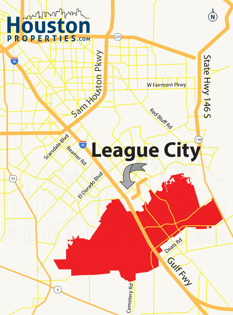 League City TX map