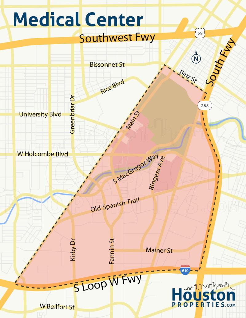 Medical Center Houston Map