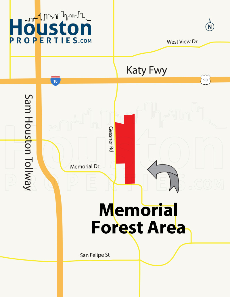 Memorial Forest Houston Map