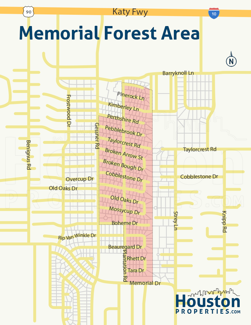 Memorial Forest Houston Neighborhood Map